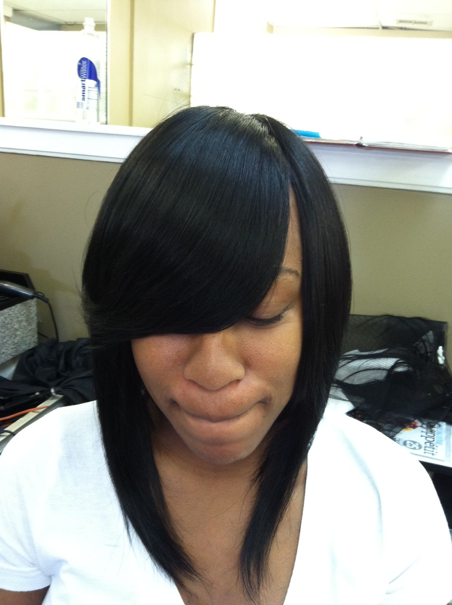Sleek and beautiful full sew in weave hair styles pinterest
