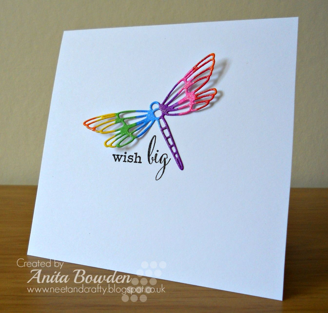 Neet & Crafty: Rainbow Dragonfly  Embossed cards, Paper crafts