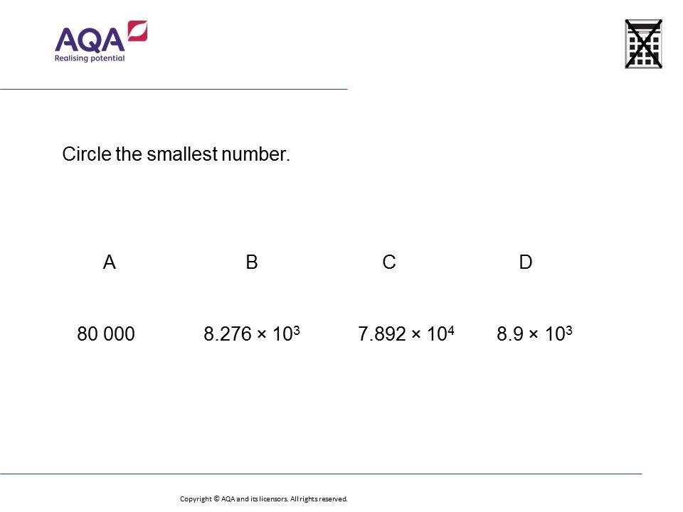 Standard Form Foundationhigher Gcse Maths Question Of The Week