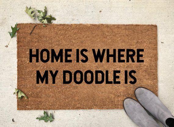 Custom Dog Mat Custom Doodle Doormat Doodle Doormat