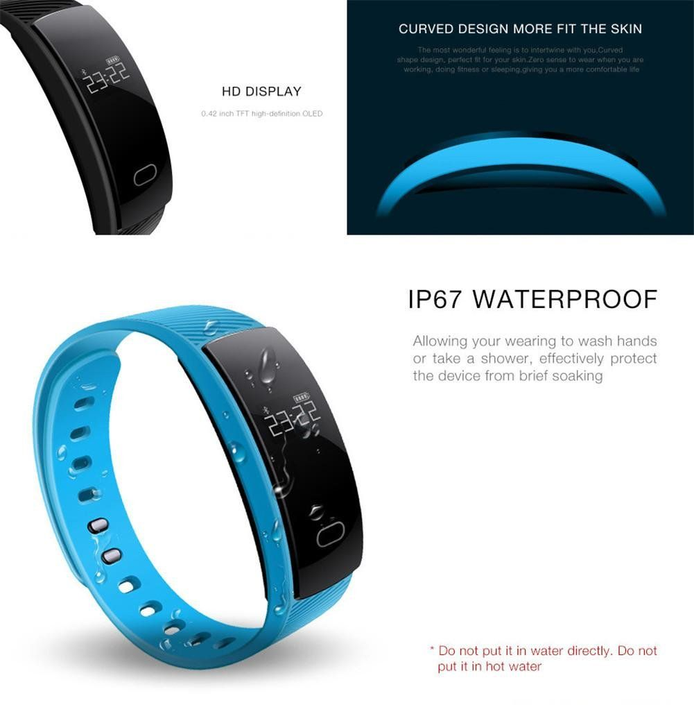 Joyeer smart bracelet blood pressure detect heart rate monitor