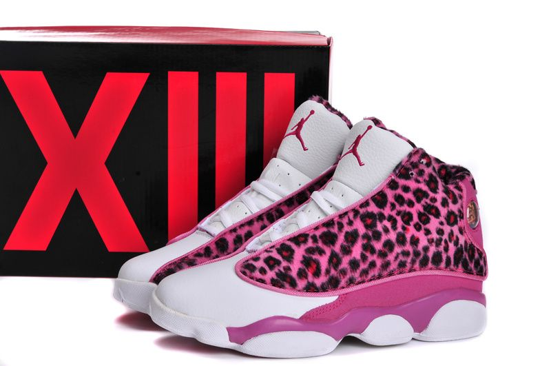 52f942e31a jordans for women | Model: Air Jordan 13 GS Leopard Print Pink White ...