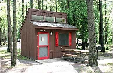 A Mini Cabin In Traverse City State Park State Parks Michigan State Parks Michigan Travel