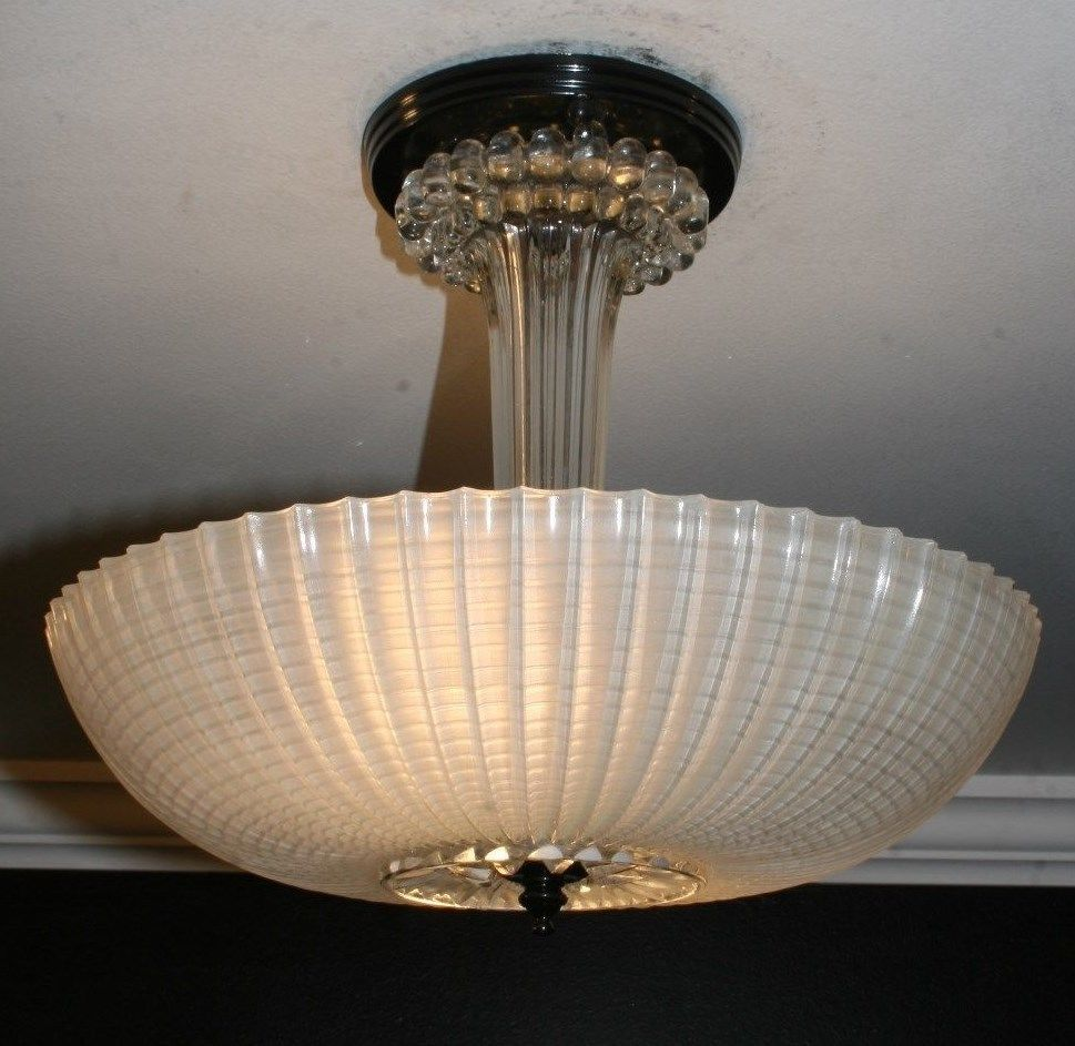 Antique frosted glass semi flush art deco light fixture ceiling antique frosted glass semi flush art deco light fixture ceiling chandelier arubaitofo Choice Image