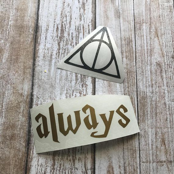 Made To Order Always Deathly Hallows Symbol Decal Sticker Total