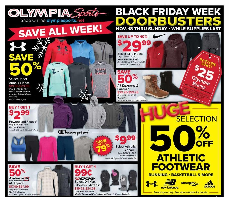Olympia Sports Black Friday 2018 Ads and Deals Black