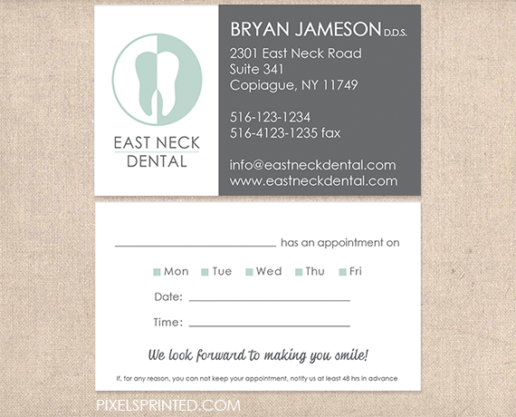 business cards for dentists business cards for dental clinics orthodontics business cards dentist - Dental Appointment Cards