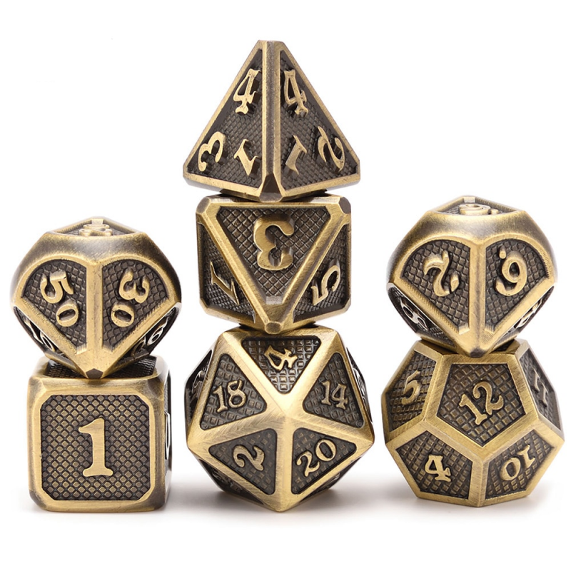 7pcs DnD Dice-Dragon scale metal dicepolyhedral dice Dungeons and Dragons diceTRPG game board game dicedragon scale metal dice