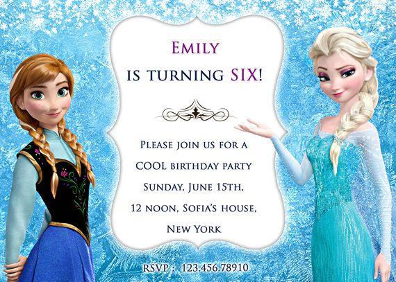 Disney Frozen Frozen Elsa Frozen Birthday by AnastasiaArtDesigns - invitation birthday frozen