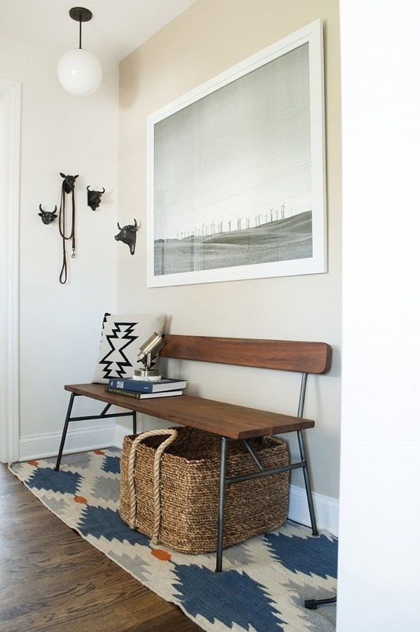 Minimalist Entryway Design With Bench
