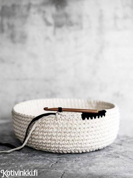 Virkattu pyykkikori | Kotivinkki