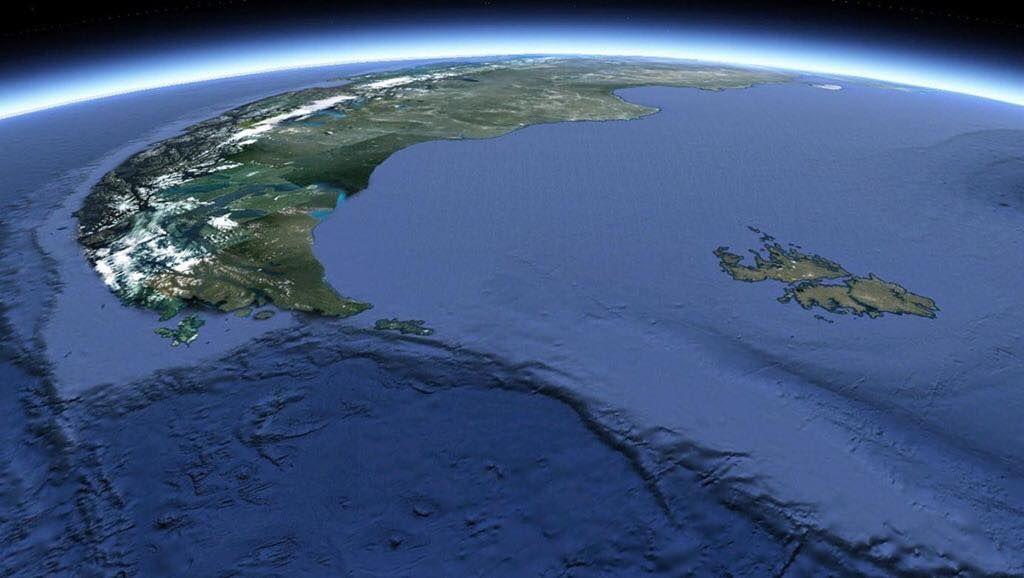 Vista Satelital Del Extremo Sur De La Xii Region De Magallanes Y De La Antartica Chilena Izq La Cordillera De Los Andes C Mapa De Argentina Islas Argentina