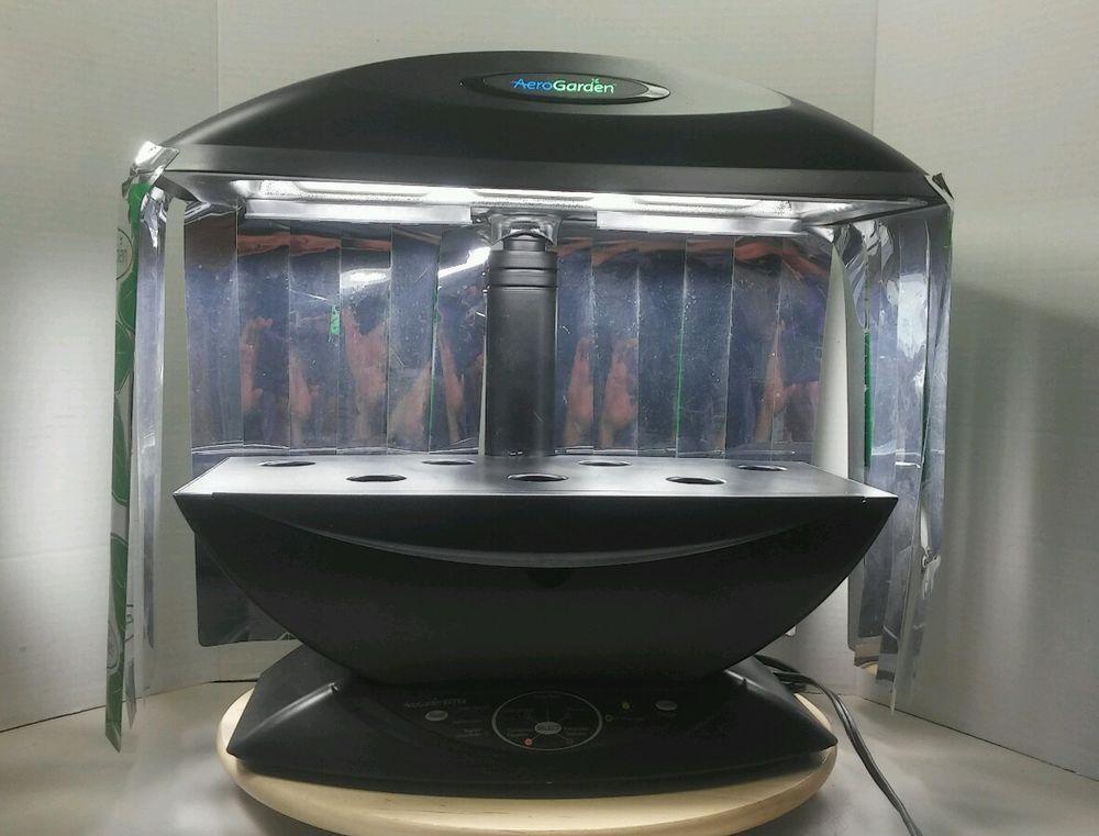 Black Aerogarden 7 Pod Indoor Garden Hydroponics Grow 640 x 480
