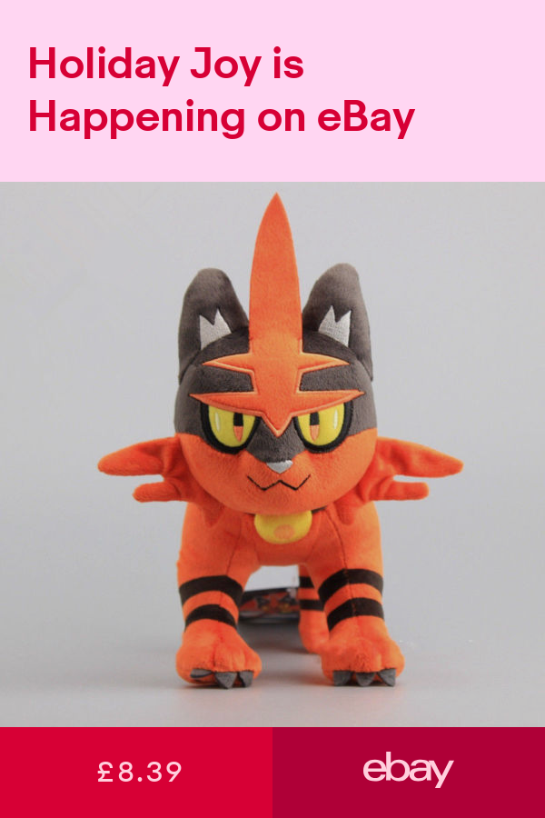 "Plushies Litten Pokemon Plush Doll Stuffed Toy Xmas Gift 8/"""