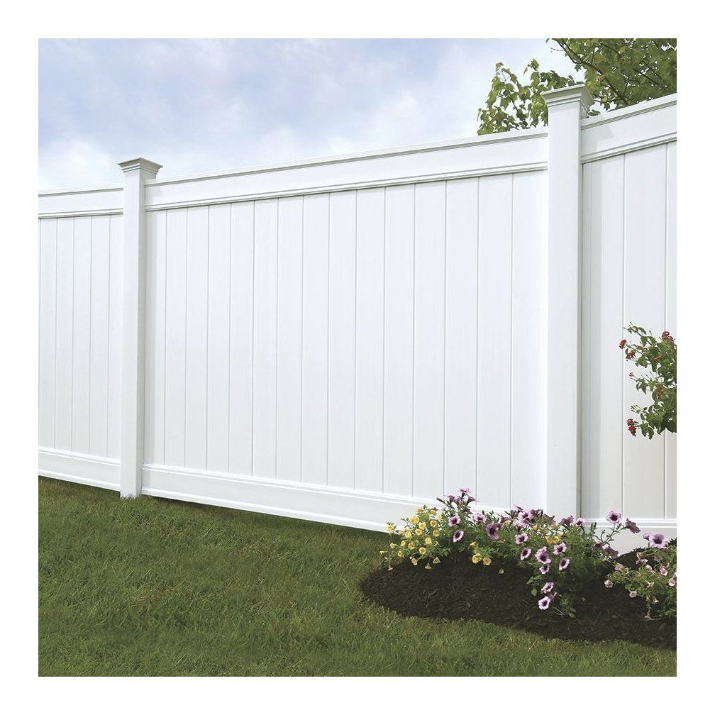 Emblem 6x8 Vinyl Privacy Fence Kit Vinyl Fence Freedom Outdoor Living For Lowes 1001 In 2020 Vinyl Privacy Fence Backyard Fences Garden Fence