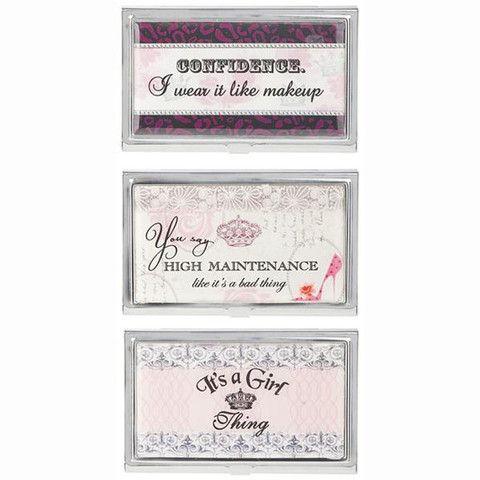 Girly business card holder the gift spot gift ideas pinterest girly business card holder the gift spot colourmoves