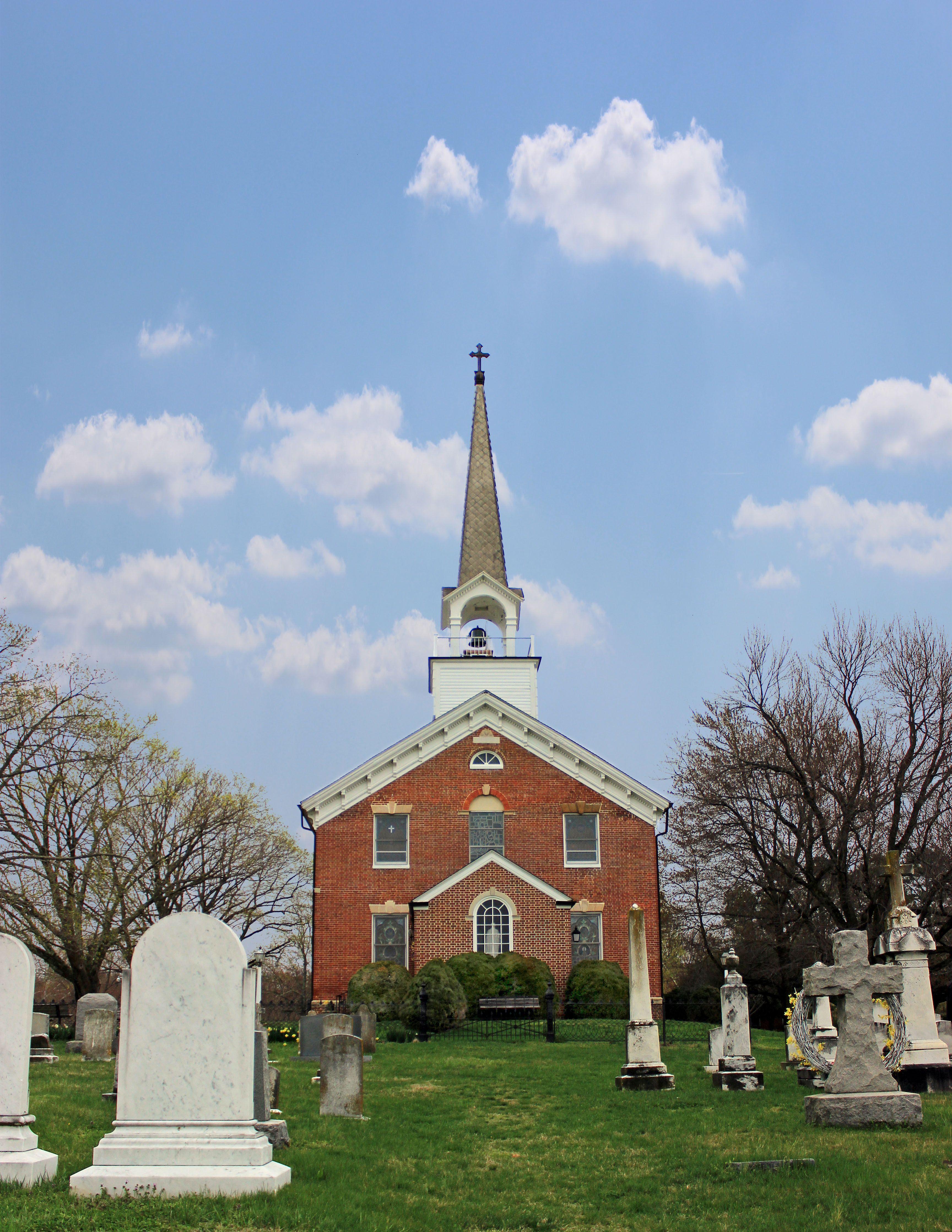 St. Ignatius Catholic Church, Port Tobacco, Charles County, Maryland. Build 1798.
