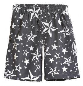 Nautical Stars Basic Swim Trunks / Charcoal Grey by city threads