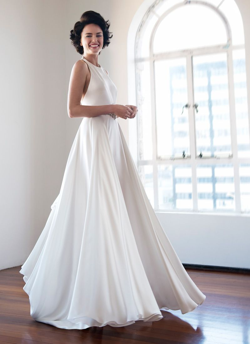 Contemporary wedding dress pearl bridal collection wedding
