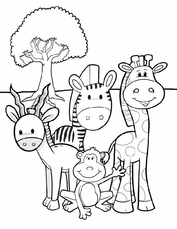 animal coloring pages for kids safari friends animal safari and coloring books. Black Bedroom Furniture Sets. Home Design Ideas