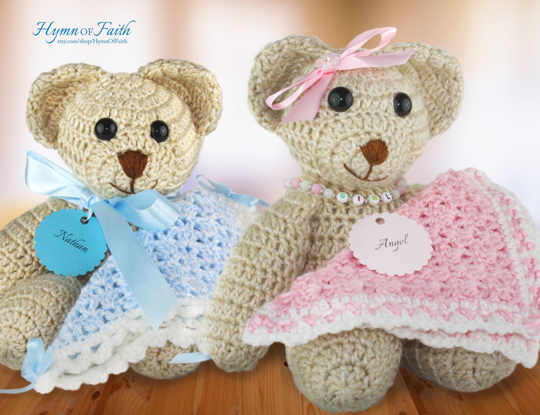 Birth announcement custom teddy bear birth stats bear