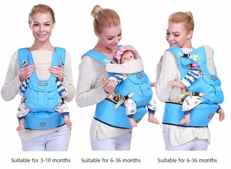4 Carrying Ways 3 In 1 Hipseat Ergonomic Baby Carrier Wrap Infant Sling Backpack