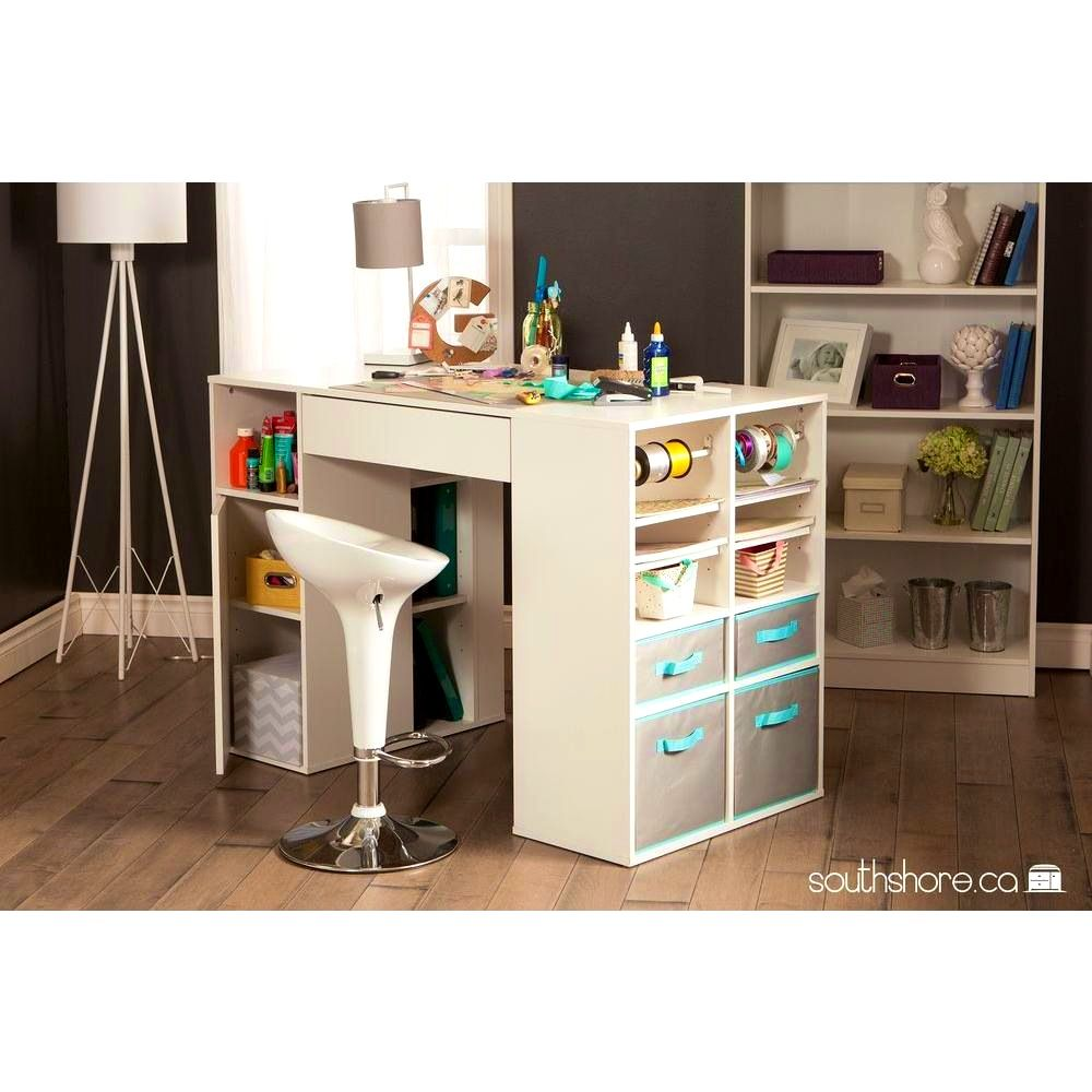 Bathroom Cool Crea Counter Height Craft Table Storage Tall With Fascinating South Shore Crea Lamina Craft Tables With Storage Craft Table Sewing Machine Tables