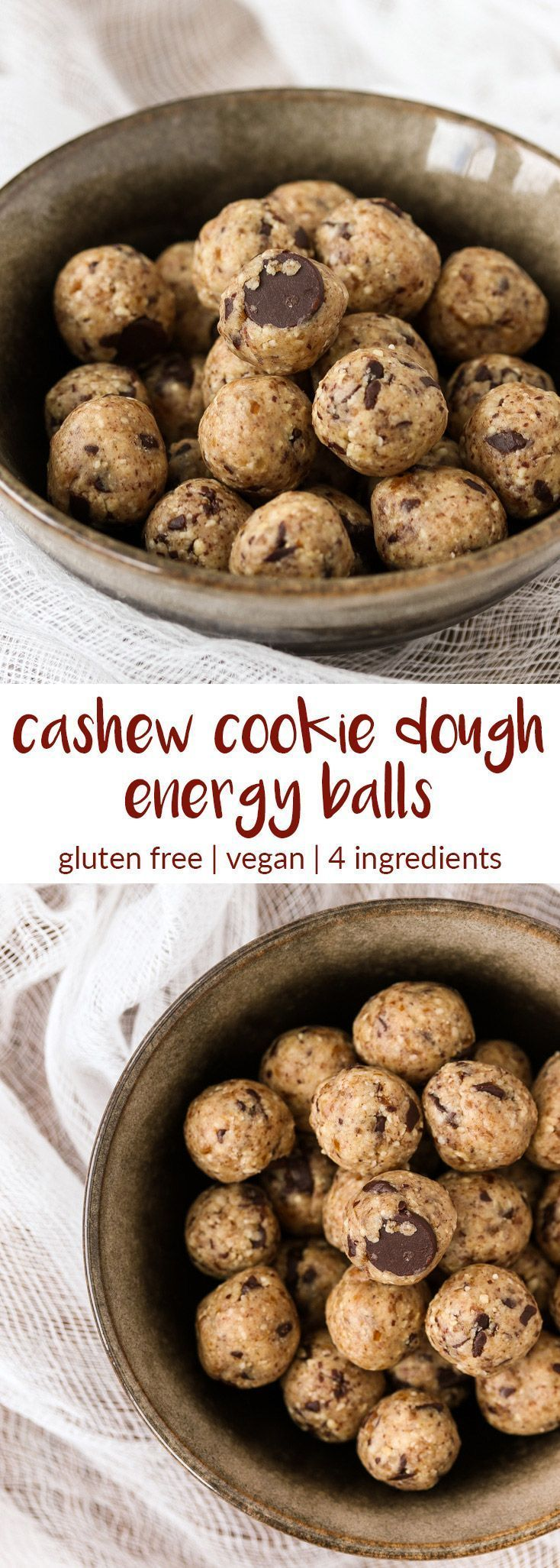 cashew cookie dough energy balls | tasty seasons