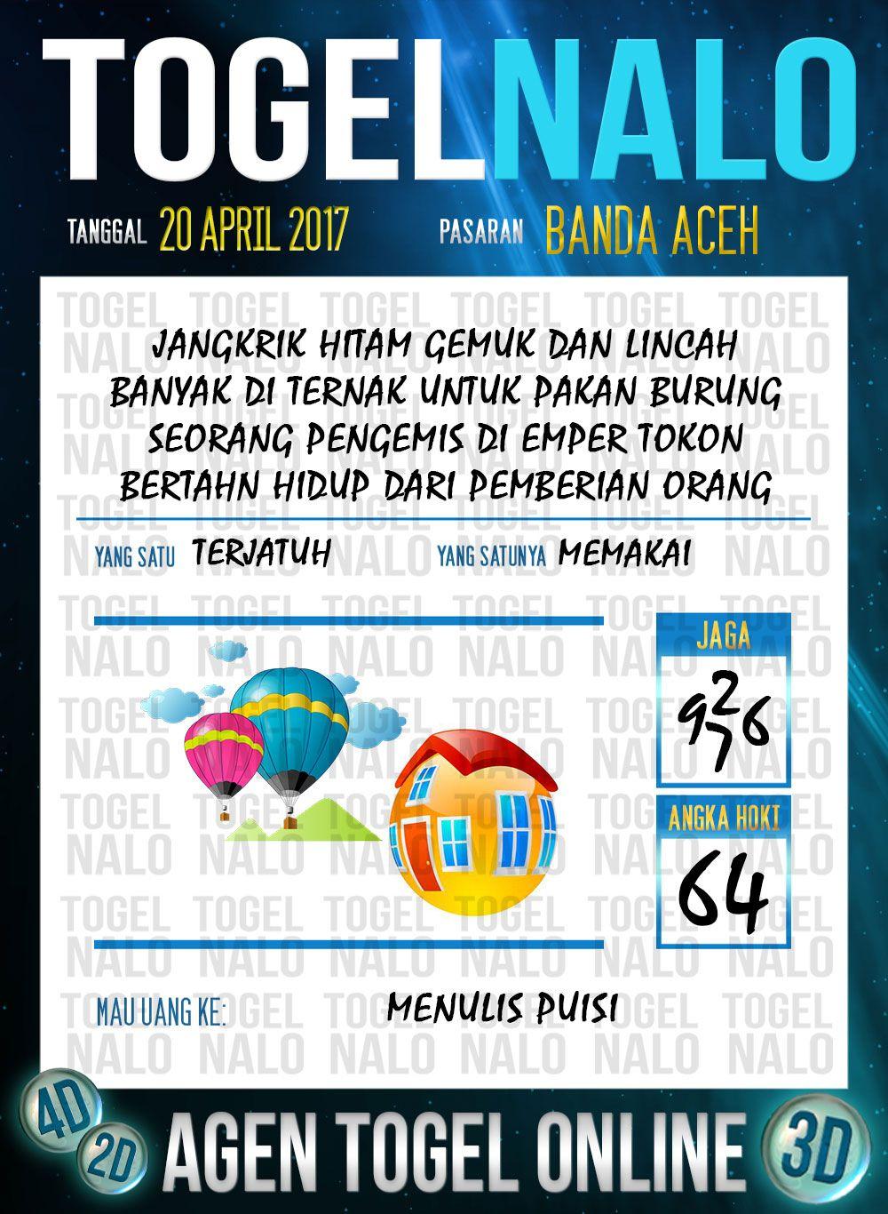 Angka Ikut 3d Togel Wap Online Togelnalo Banda Aceh 20 April 2017 Banda Aceh Orang Tanggal