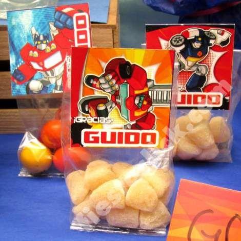 Rescuebots etiquetas para dulces
