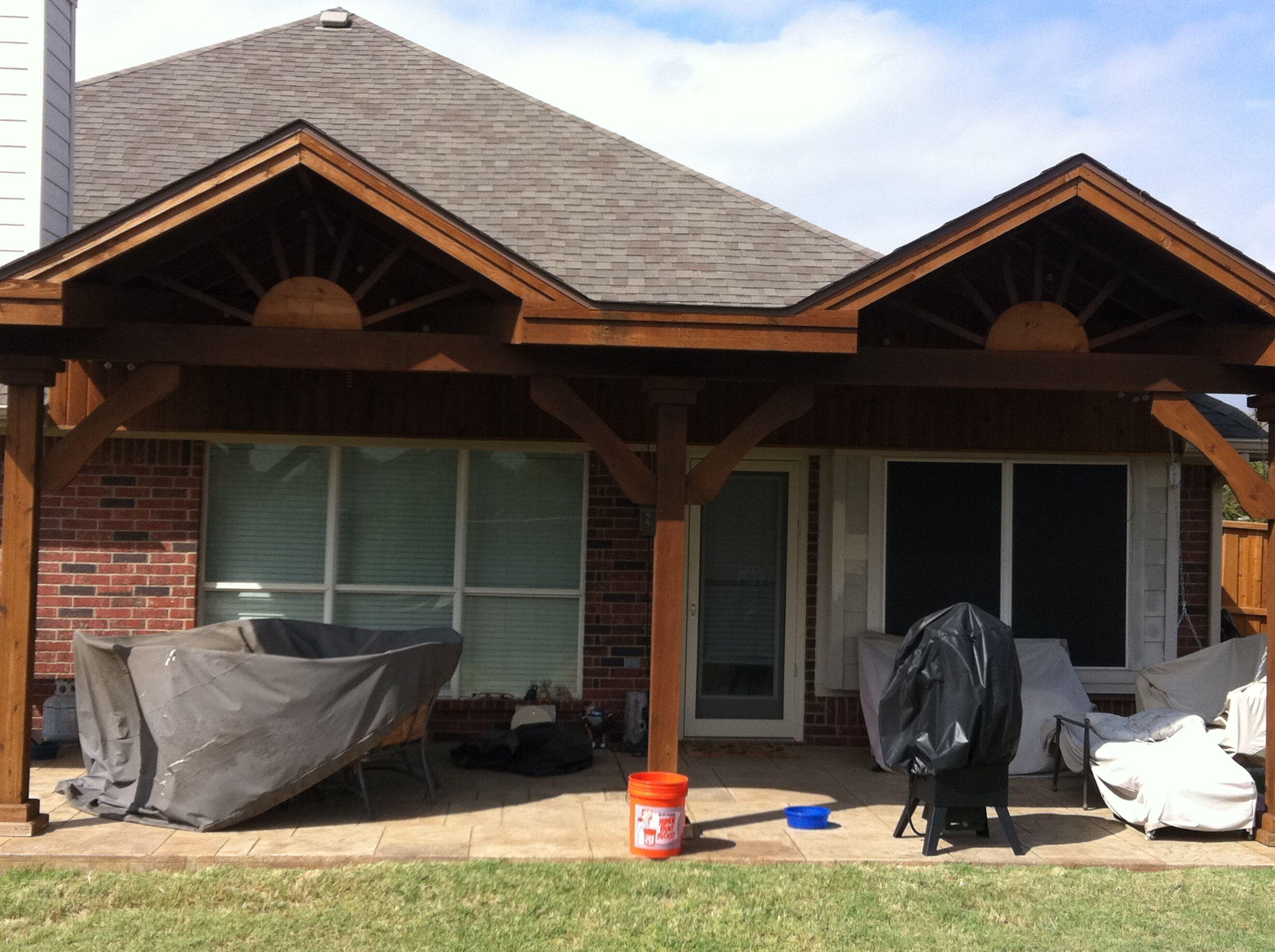Double Gable Patio Cover Exterior Design Backyard Covered Patio Backyard Covered Patios