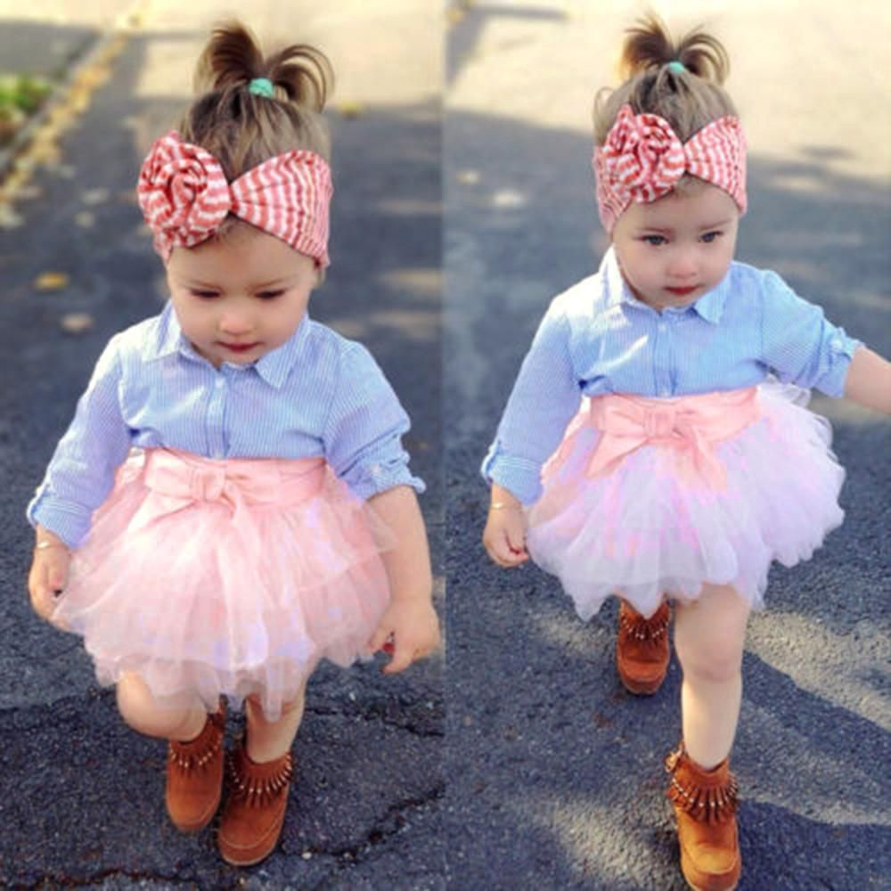 4e9820736 2Pcs Toddler Baby Girls Bow Striped Tops+Tutu Skirt Set #baby #shoppingmom # toddler #photographers #money #singleparent #love #shop #sale #toddlers