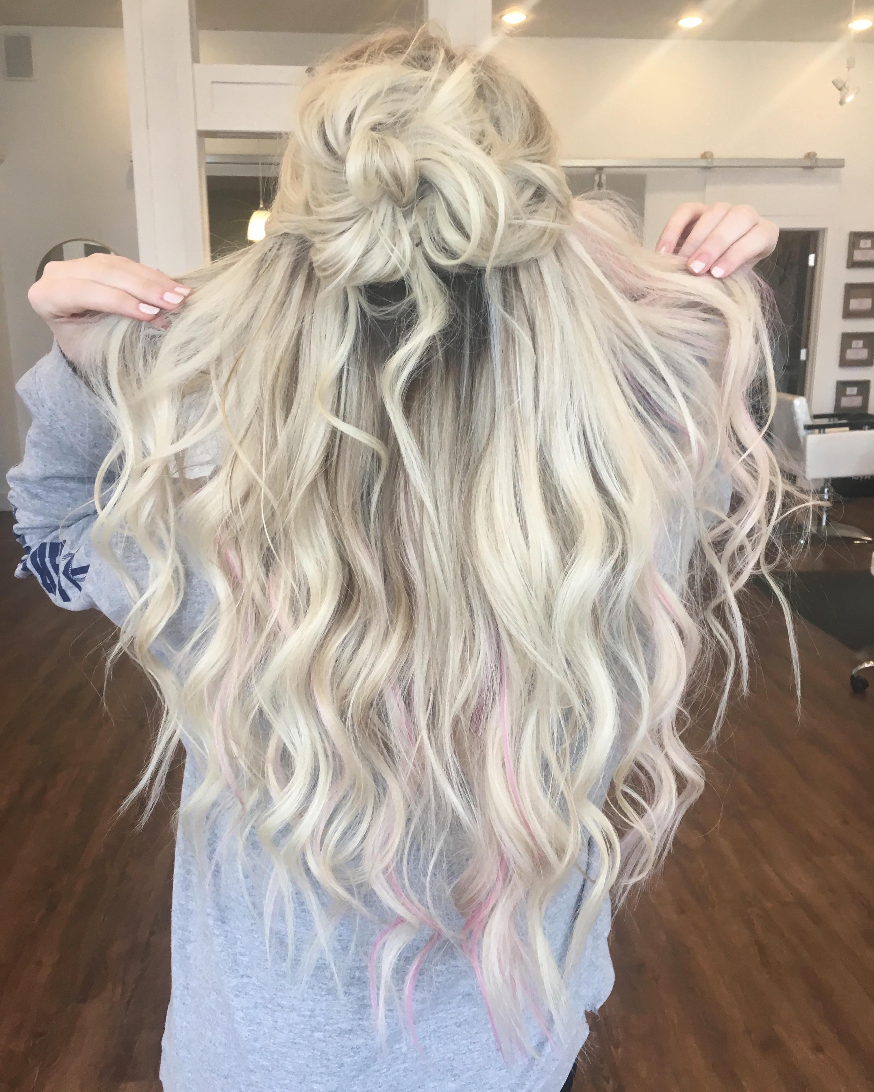 Peek A Boo Pink Highlights Hair Beauty Skin Deals Me Fashion