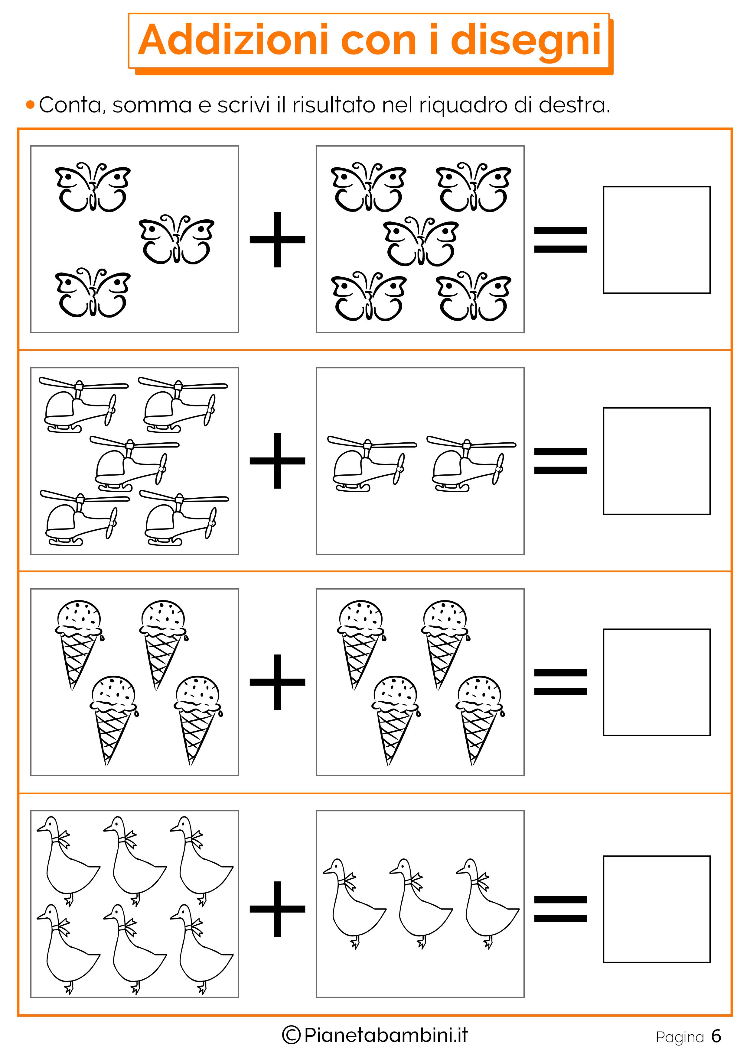 Risultati immagini per domino addizioni entro il 10 ...