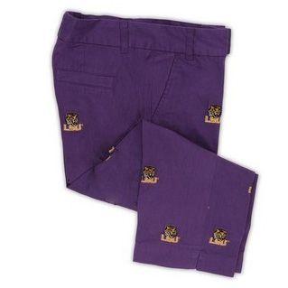 Women's Embroidered Stadium Capri - LSU (Purple) by Pennington & Bailes.  Buy it @ ReadyGolf.com