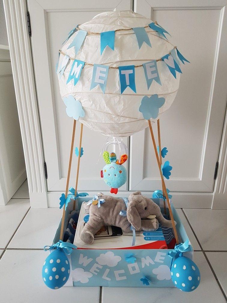 hei luftballon zur geburt hei luftballon geburtsgeschenk welcomebaby diy doityourself. Black Bedroom Furniture Sets. Home Design Ideas