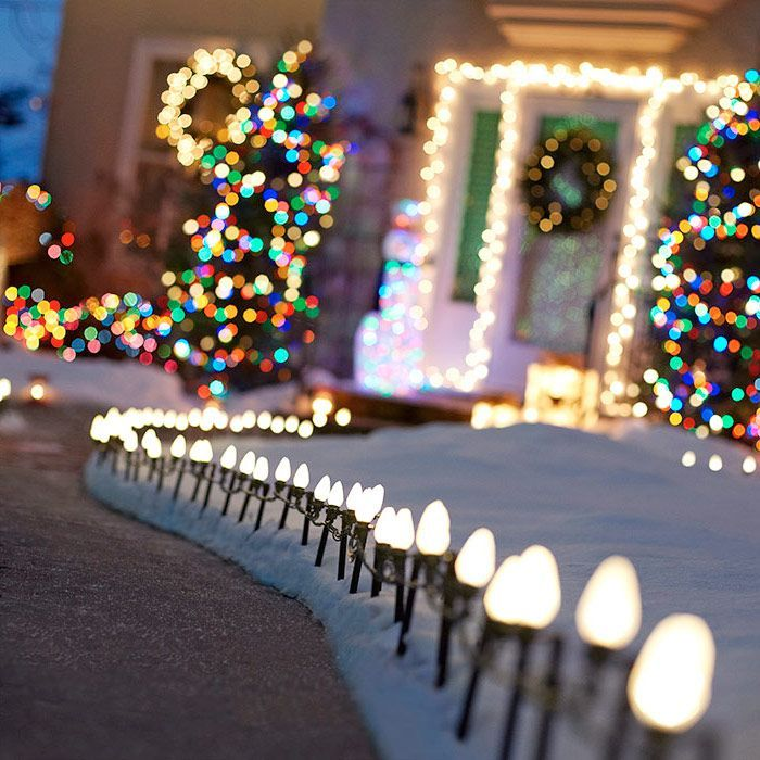 String Of Walkway Christmas Lights Guide Visitors To Your Holiday
