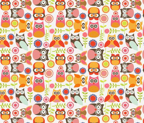 Cute little Owls fabric by valentinaramos on Spoonflower - custom fabric
