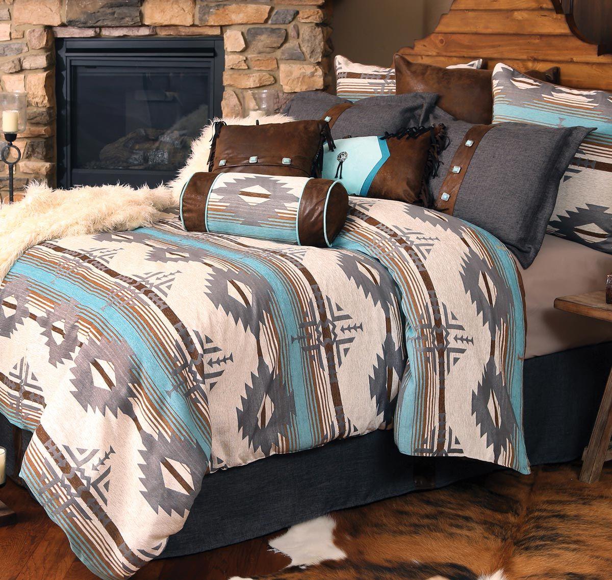 Dakota Sky Bed Set King With Images Western Home Decor