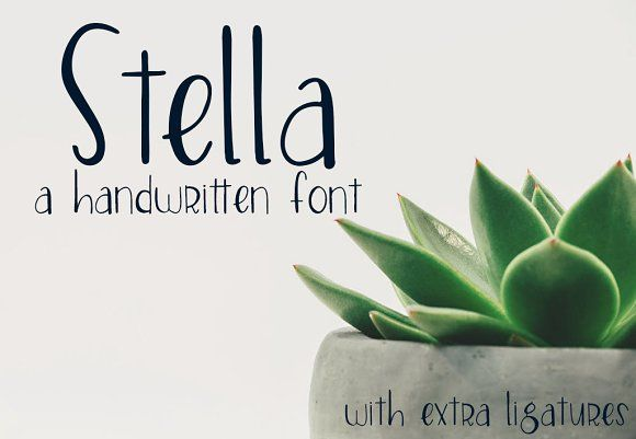 stella font fonts inspired by my passion for hand lettering stella is a simple clean and elegant font that looks gr by groovy journal