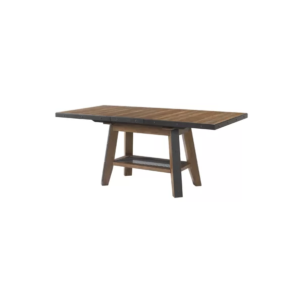 Baulch Extendable Solid Wood Dining Table Solid Wood Dining Table Dining Table Trestle Dining Tables