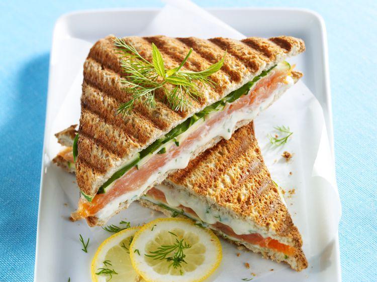 Croque-monsieur au saumon et au Boursin - Recettes #croquemonsieur