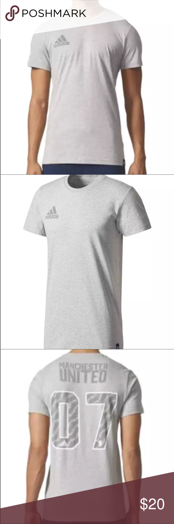 ⚽️ Adidas man t-shirts Manchester Adidas man Manchester t-shirts size L  You love to show off your loyalty for the Manchester United and want to look your absolute best while you're doing it this Manchester United team t shirts from Adidas is the perfect piece of gear for you adidas Shirts Tees - Short Sleeve