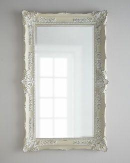 """H44RH  """"Antique White"""" Mirror"""