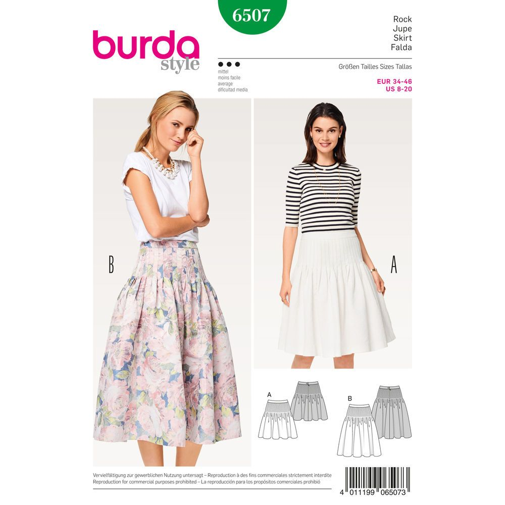Lots of pleats stitched down to the hip hold the extra fullness of ...