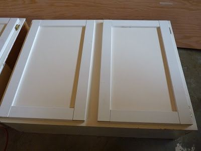 Up Cycle Basic Flat Cabinet Doors Into Shaker Style Doors Looks