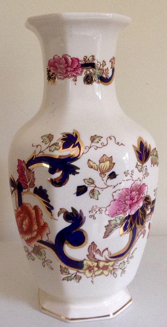 A Vintage Masons Ironstone Vase Mandalay By Vintageuksouth