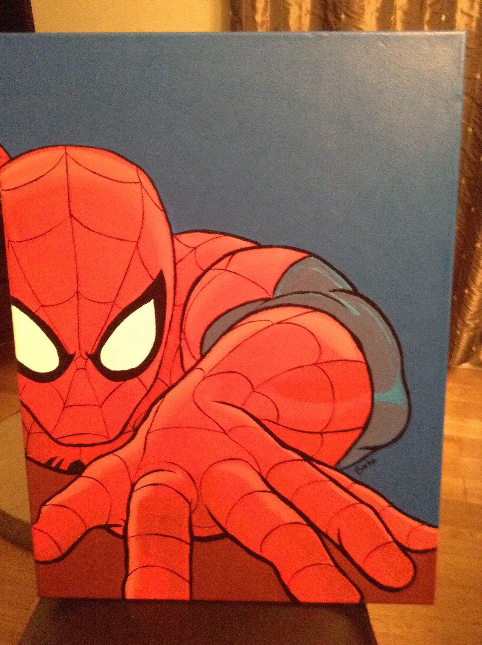Spiderman pop art Barbo Pop art painting, Painting art