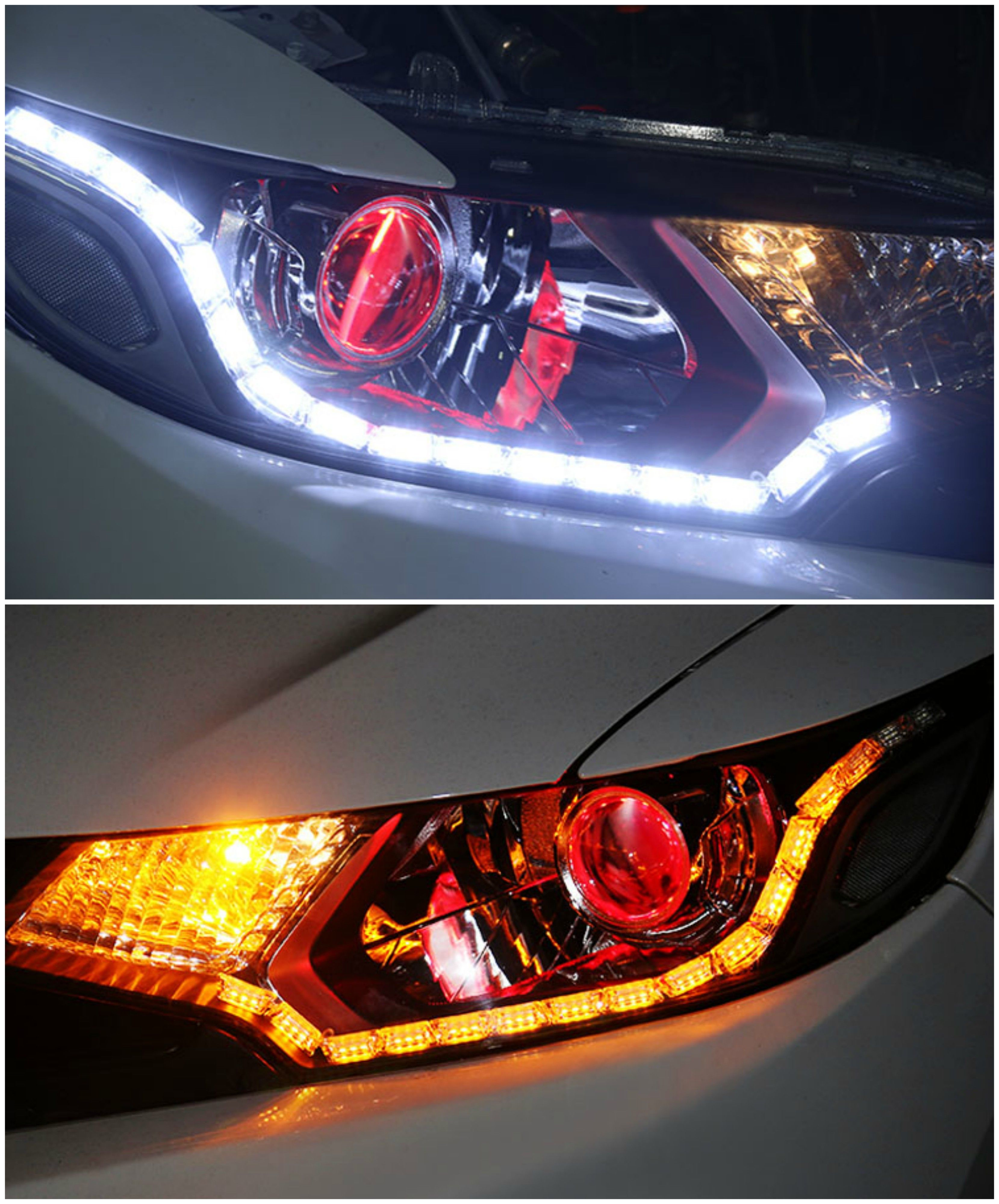 White Amber Switchback Led Strip Lighting For Headlight Retrofit W Sequential Turn Signal Feature Led Strip Lighting Strip Lighting Amber Led Lights
