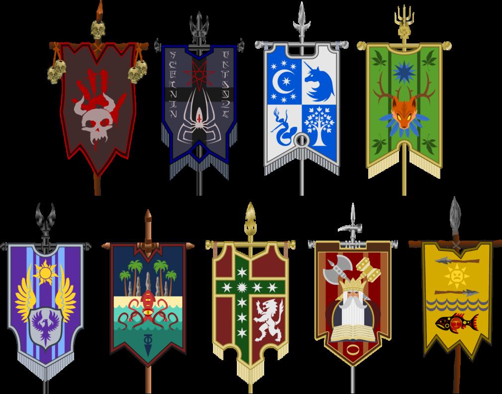 War Banners Of The Nine Nations Medieval Banner Fantasy Concept Art Flag Design